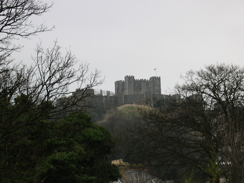 Dover Castle from the town of Dover at its feet