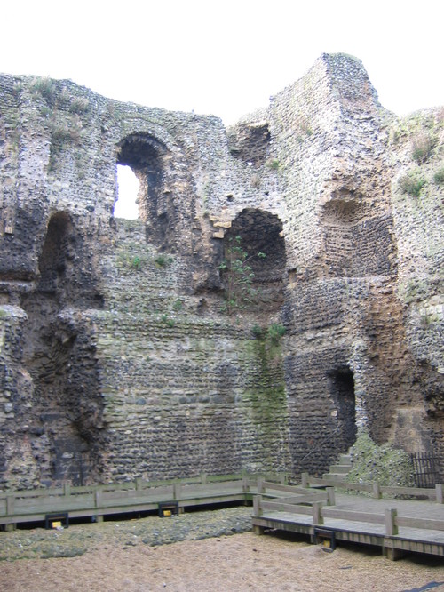 the ruins of a Norman Castle